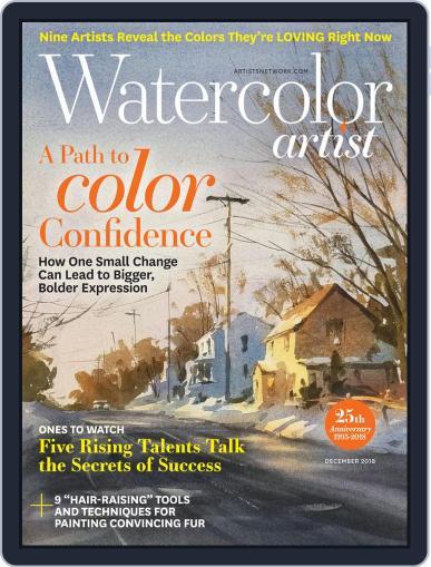 Watercolor Artist December 1st, 2018 Digital Back Issue Cover