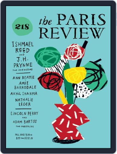 The Paris Review September 1st, 2016 Digital Back Issue Cover