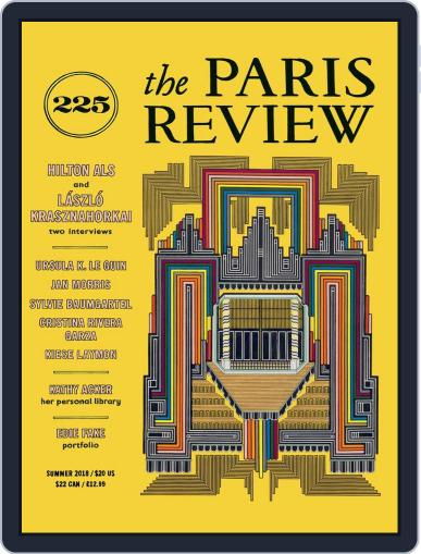 The Paris Review June 1st, 2018 Digital Back Issue Cover