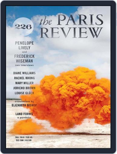 The Paris Review September 1st, 2018 Digital Back Issue Cover