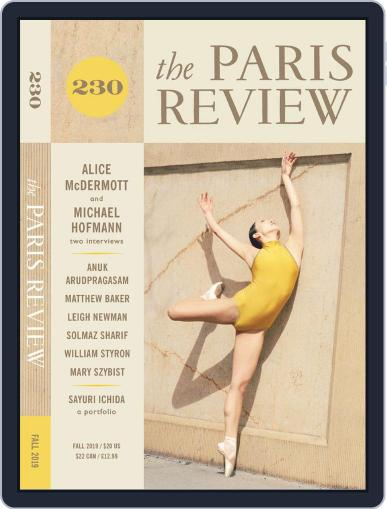 The Paris Review September 1st, 2019 Digital Back Issue Cover