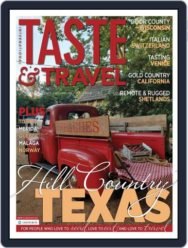 Taste and Travel International October 15th, 2018 Digital Back Issue Cover