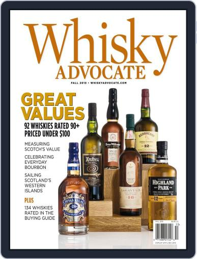Whisky Advocate August 27th, 2015 Digital Back Issue Cover