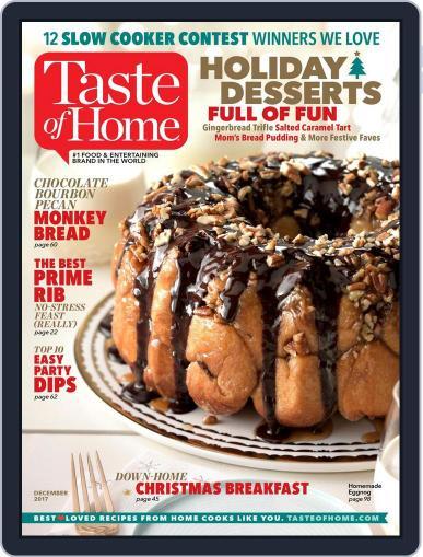 Taste of Home December 1st, 2017 Digital Back Issue Cover