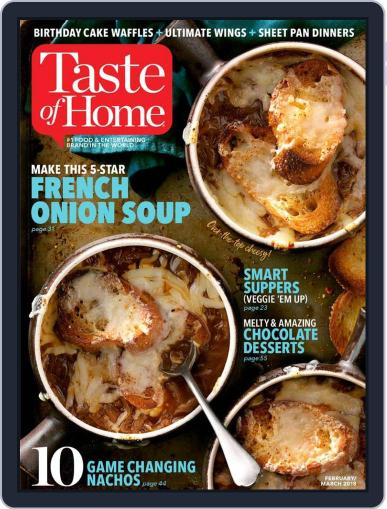 Taste of Home February 1st, 2018 Digital Back Issue Cover
