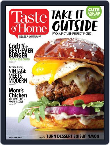 Taste of Home April 1st, 2018 Digital Back Issue Cover