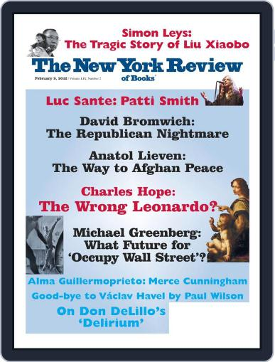 The New York Review of Books January 26th, 2012 Digital Back Issue Cover