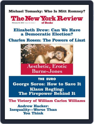 The New York Review of Books February 7th, 2012 Digital Back Issue Cover