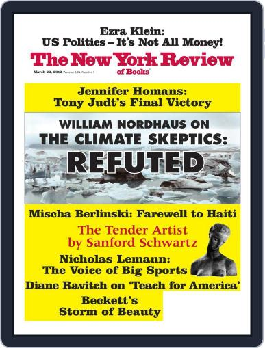 The New York Review of Books March 7th, 2012 Digital Back Issue Cover
