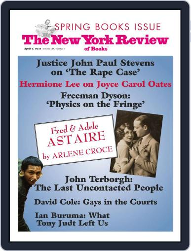 The New York Review of Books March 21st, 2012 Digital Back Issue Cover