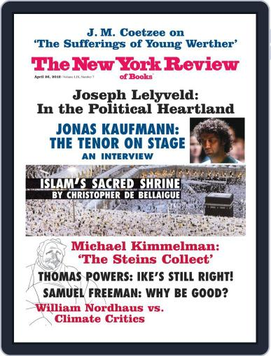 The New York Review of Books April 11th, 2012 Digital Back Issue Cover