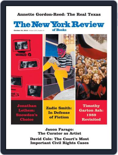 The New York Review of Books October 24th, 2019 Digital Back Issue Cover