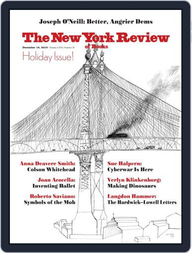 The New York Review of Books December 19th, 2019 Digital Back Issue Cover