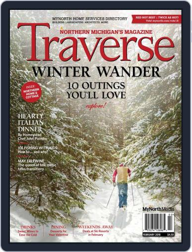 Traverse, Northern Michigan's February 1st, 2018 Digital Back Issue Cover