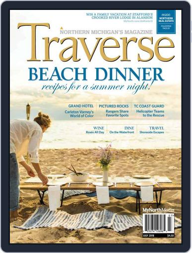 Traverse, Northern Michigan's July 1st, 2018 Digital Back Issue Cover