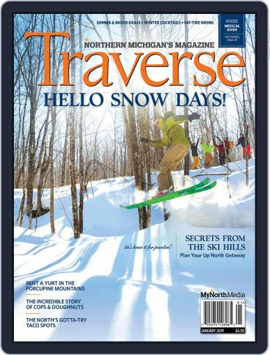 Traverse, Northern Michigan's January 1st, 2019 Digital Back Issue Cover