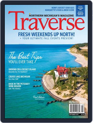 Traverse, Northern Michigan's September 1st, 2019 Digital Back Issue Cover