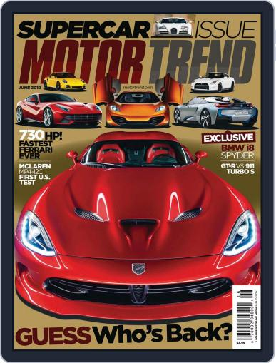 MotorTrend April 24th, 2012 Digital Back Issue Cover