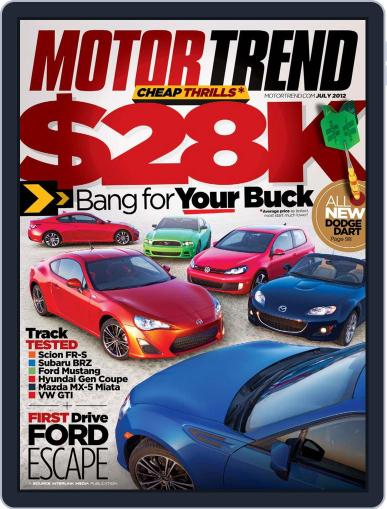 MotorTrend May 29th, 2012 Digital Back Issue Cover
