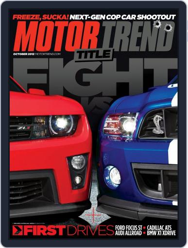 MotorTrend August 28th, 2012 Digital Back Issue Cover