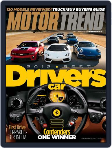 MotorTrend October 2nd, 2012 Digital Back Issue Cover