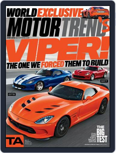 MotorTrend April 30th, 2013 Digital Back Issue Cover