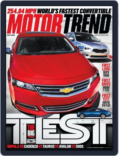 MotorTrend May 28th, 2013 Digital Back Issue Cover