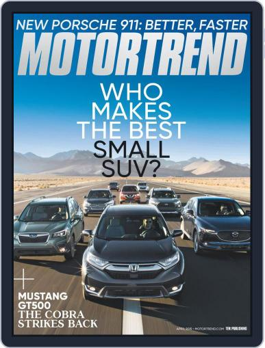 MotorTrend April 1st, 2019 Digital Back Issue Cover