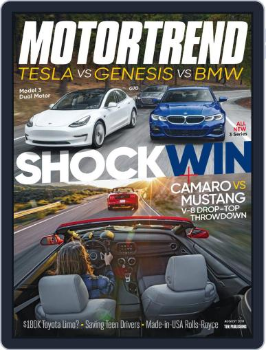 MotorTrend August 1st, 2019 Digital Back Issue Cover