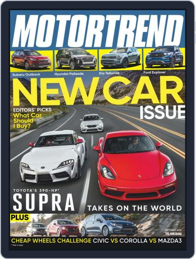 MotorTrend October 1st, 2019 Digital Back Issue Cover