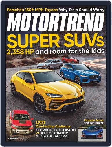 MotorTrend November 1st, 2019 Digital Back Issue Cover