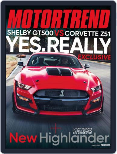 MotorTrend March 1st, 2020 Digital Back Issue Cover