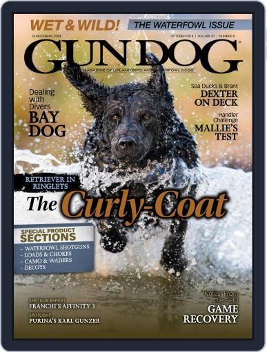 Gun Dog October 1st, 2018 Digital Back Issue Cover