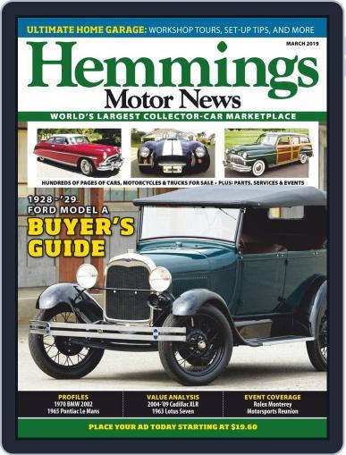 Hemmings Motor News March 1st, 2019 Digital Back Issue Cover