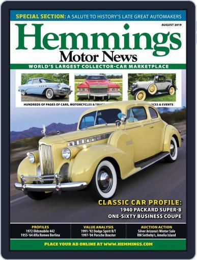 Hemmings Motor News August 1st, 2019 Digital Back Issue Cover