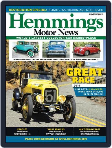 Hemmings Motor News November 1st, 2019 Digital Back Issue Cover