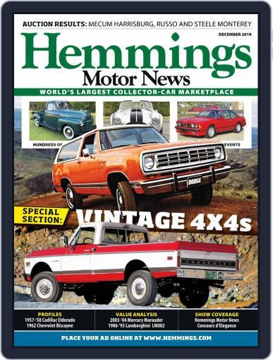 Hemmings Motor News December 1st, 2019 Digital Back Issue Cover