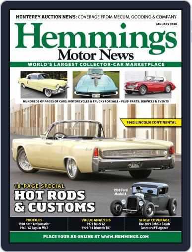 Hemmings Motor News January 1st, 2020 Digital Back Issue Cover
