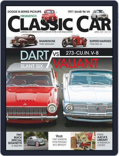 Hemmings Classic Car April 1st, 2019 Digital Back Issue Cover