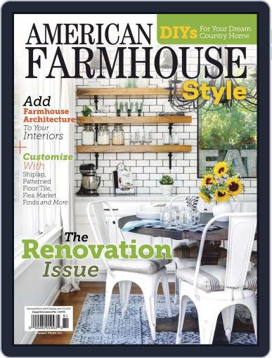 American Farmhouse Style February 1st, 2019 Digital Back Issue Cover