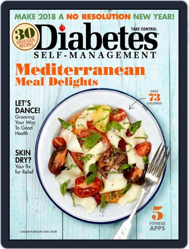 Diabetes Self-Management January 1st, 2018 Digital Back Issue Cover