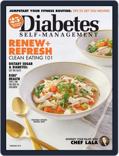 Diabetes Self-Management January 1st, 2019 Digital Back Issue Cover