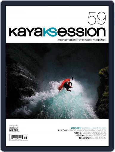 Kayak Session August 1st, 2016 Digital Back Issue Cover