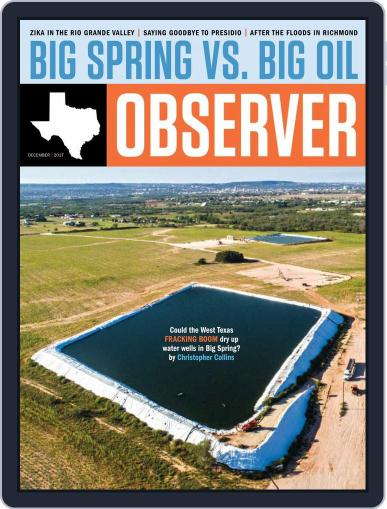 The Texas Observer December 1st, 2017 Digital Back Issue Cover