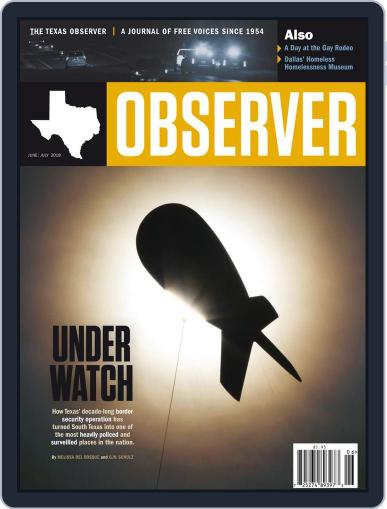 The Texas Observer June 1st, 2018 Digital Back Issue Cover