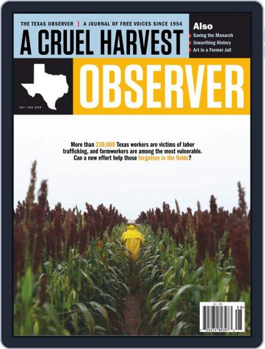 The Texas Observer July 1st, 2019 Digital Back Issue Cover