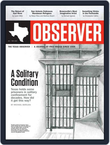 The Texas Observer January 1st, 2020 Digital Back Issue Cover