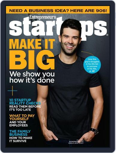 Entrepreneur's Startups October 11th, 2016 Digital Back Issue Cover