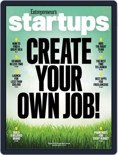 Entrepreneur's Startups March 5th, 2019 Digital Back Issue Cover