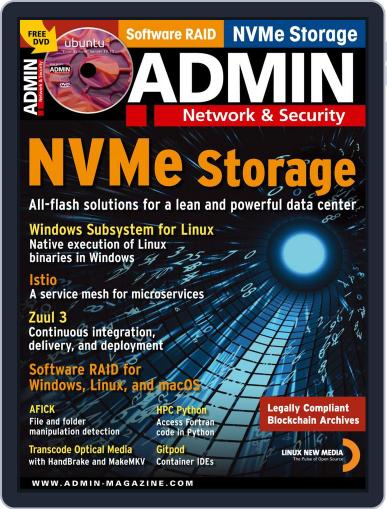 ADMIN Network & Security November 1st, 2019 Digital Back Issue Cover